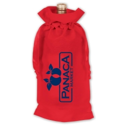 109864, Ribbon Drawstring Wine Bag