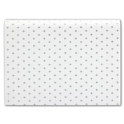 Giftwrapping Tissue Paper White with Grey Acccents