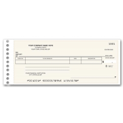 promotional check custom compact expense ledger check
