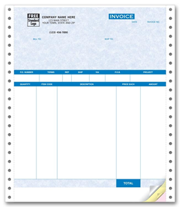 QuickBooks® Product Invoices - No Packing Slip