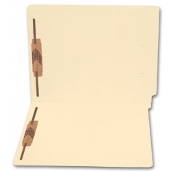 1345, End Tab Full Cut Manila Folder, 11 pt, Two Fastener