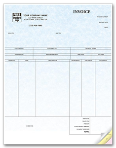 Peachtree Laser Product Invoice - Parchment