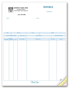 Laser Product Invoice for BusinessWorks
