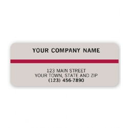 Advertising Labels Gray & Maroon