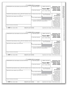 Stock options tax forms