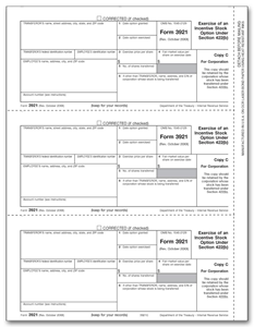 3921 Laser Tax Forms - Exercise of Stocks - Copy C
