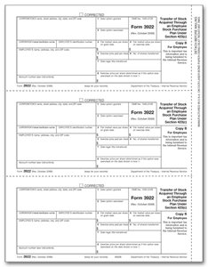 3922 Laser Tax Forms - Transfer Stocks - Copy B