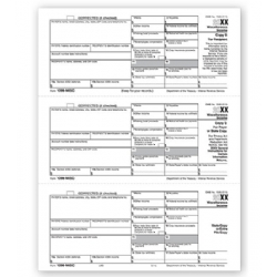 Laser 1099-MISC Tax Forms 3-Up
