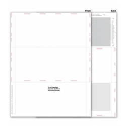 Blank 1099 Tax Forms - Pressure Seal, 3-Up