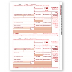 Laser 1099-DIV Tax Forms - Federal Copy A