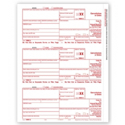 Laser 1099-C Tax Forms - Federal Copy A