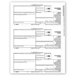 Laser 1099-C Tax Forms - Copy B