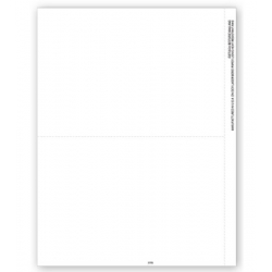 Laser Blank 1099 Tax Forms - Copy B Backer, 2-Up