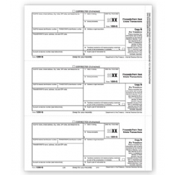 Laser 1099-S Tax Forms - Payer or Borrower Copy B