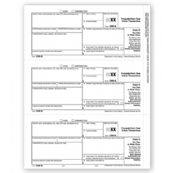 Laser 1099-S Tax Forms - State Copy C