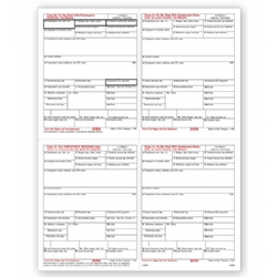 Laser W-2 Tax Forms - 4-Up