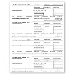 Laser W-2 Tax Forms - Horizontal Format, 4-Up