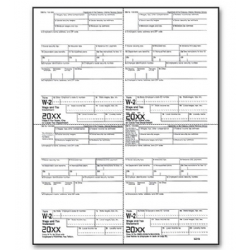 4-Up Bulk Laser W-2 Tax Forms - Employee Copy