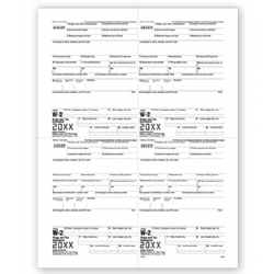 4-Up Laser W-2 Tax Forms - Employee M