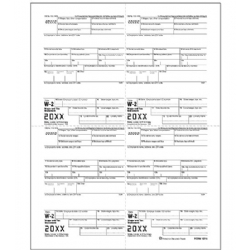 4-Up Bulk W-2 Tax Forms - Employer Copy