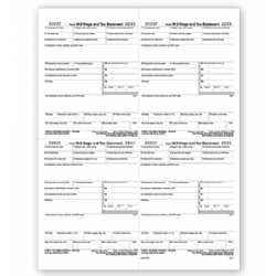 4-Up Laser W-2 Tax Forms - Employee W