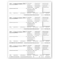 Bulk 4-Up Laser W-2 Tax Forms - Horizontal