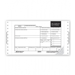 Continuous W-2 Tax Forms - One Wide Mailer