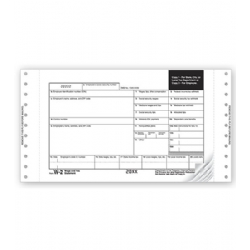 Continuous W-2 Tax Forms - One Wide Mailer with Indicia