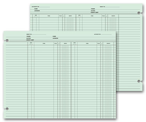 Double Entry Accounting Ledger Sheets
