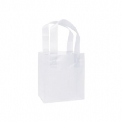 White Frosted Plastic Shopping Bags