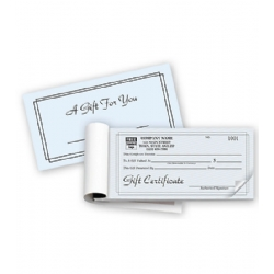 Gift Certificate Books- Contemporary