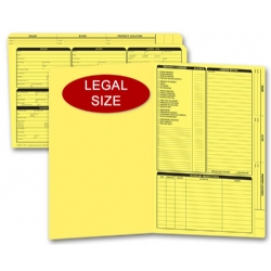 Yellow real estate listing folders