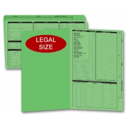 Green real estate listing folders