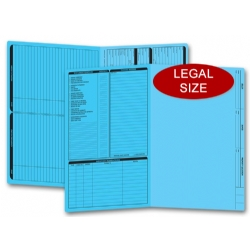 Blue real estate folders, legal size
