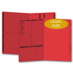Red real estate folders, legal size