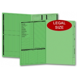 Green real estate folders, legal size