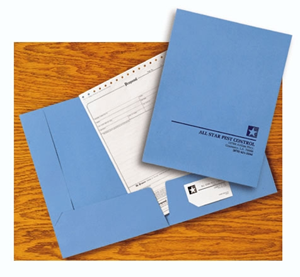Custom Presentation Folders - Light Blue