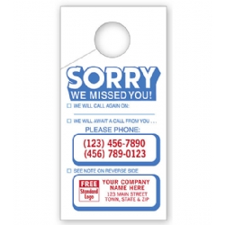 "Door Hangers ""Sorry we Missed You"""