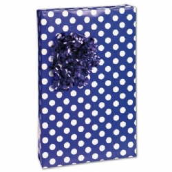 Large Navy Dots Gift Wrap