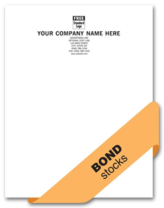 25% Cotton 24# Letterheads, Smooth Finish