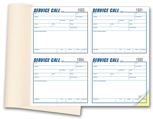 Service Call Books