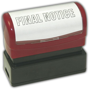 """FINAL NOTICE"" Stamp"