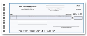 one write checks Carbonless strip on cash disbursement 1-write checks transfers data to journal with no errors made from recopying the same information over and over.