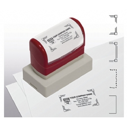 Pre-Inked Name & Address Stamp, Large