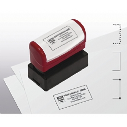 Pre-Inked Name & Address Stamp, Medium