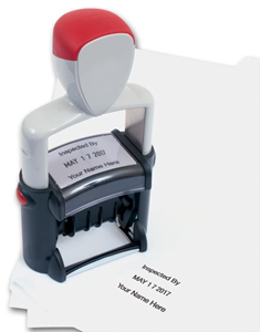 Self-Inking Metal Date Stamp