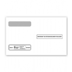 W-2 Tax Envelopes - Double-Window - Horizontal Format, 4-Up