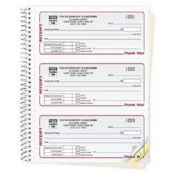 spiral bound receipt books duplicate