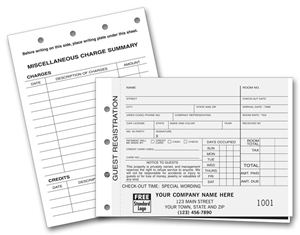 Carbon Copy Hotel Guest Registration Forms