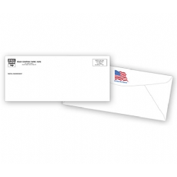 10 Envelopes with American Flag